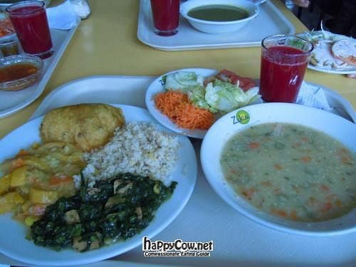 "Photo of Vegetariano Zukini  by <a href=""/members/profile/jrfishe1"">jrfishe1</a> <br/>Lunch plate @ Zukini with fried fake ham empanada, two kinds of 'curry', rice, salad, quinoa soup, and juice <br/> June 12, 2012  - <a href='/contact/abuse/image/19093/33255'>Report</a>"