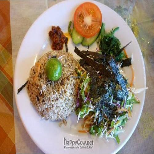 """Photo of Organic Freshmart and Restaurant  by <a href=""""/members/profile/CovertOps78"""">CovertOps78</a> <br/>All the Fried Rice dishes came with a serving of fresh, crunchy, shredded organic vegetables <br/> March 4, 2010  - <a href='/contact/abuse/image/19169/3894'>Report</a>"""