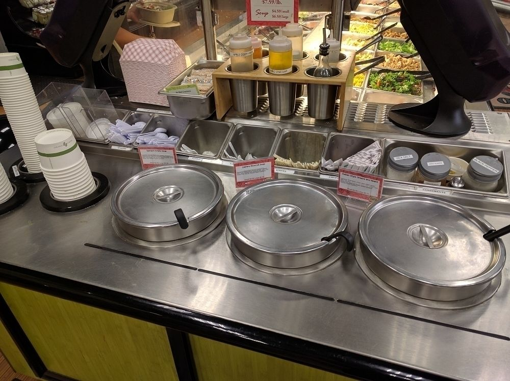 """Photo of Down to Earth Deli Cafe  by <a href=""""/members/profile/mrd"""">mrd</a> <br/>And soups <br/> October 23, 2016  - <a href='/contact/abuse/image/1918/183809'>Report</a>"""