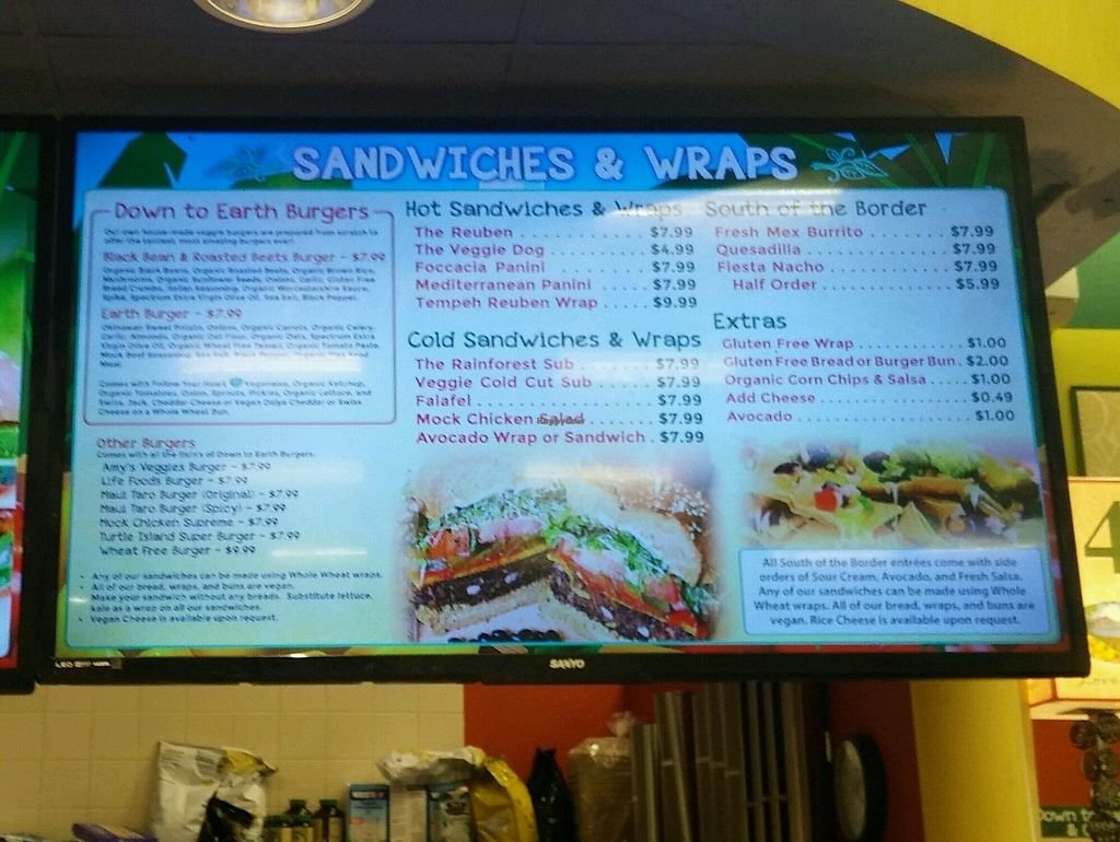 """Photo of Down to Earth Deli Cafe  by <a href=""""/members/profile/lordsunil"""">lordsunil</a> <br/>Sandwiches, burgers, wraps <br/> September 4, 2017  - <a href='/contact/abuse/image/1918/300966'>Report</a>"""