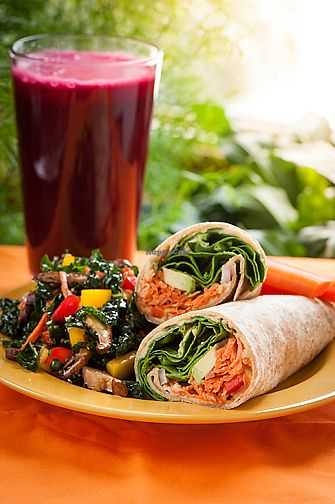 "Photo of Greens N Grains  by <a href=""/members/profile/KNavis"">KNavis</a> <br/>Wrap and Kale salad <br/> April 13, 2018  - <a href='/contact/abuse/image/19246/385108'>Report</a>"