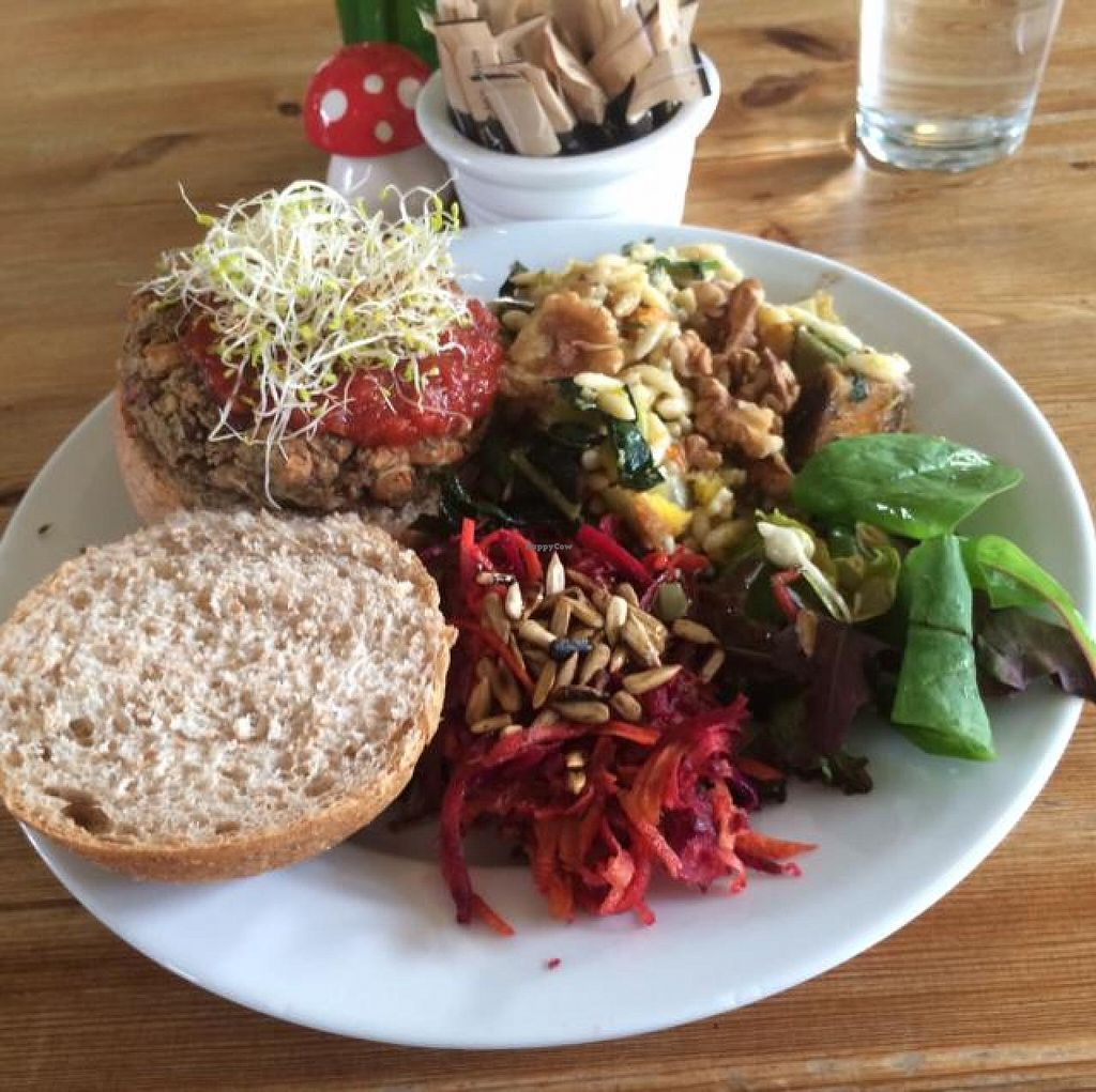 "Photo of The Veg Box Cafe  by <a href=""/members/profile/Joshilib"">Joshilib</a> <br/>the bean burger <br/> September 18, 2014  - <a href='/contact/abuse/image/19261/80275'>Report</a>"