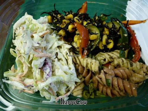 Photo of Down to Earth Organic and Natural  by naoko <br/>Coleslaw, Hijiki Salad and Pasta Salad <br/> August 8, 2012  - <a href='/contact/abuse/image/1928/35693'>Report</a>