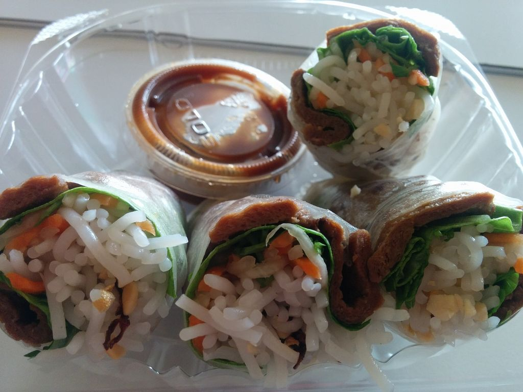 """Photo of Loving Hut - Houston  by <a href=""""/members/profile/MizzB"""">MizzB</a> <br/>BBQ rolls with dipping sauce. Good for travel/takeout <br/> May 1, 2016  - <a href='/contact/abuse/image/19306/146937'>Report</a>"""