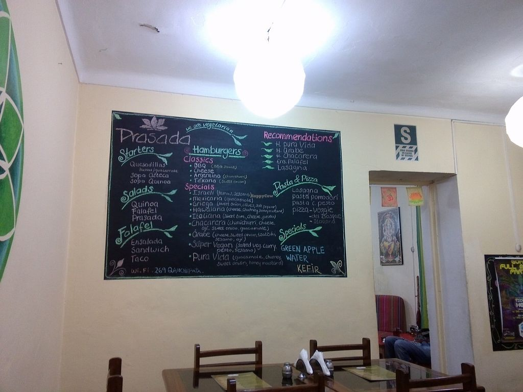 "Photo of Prasada  by <a href=""/members/profile/Ryecatcher"">Ryecatcher</a> <br/>Menu on a blackboard inside Prasada <br/> May 25, 2016  - <a href='/contact/abuse/image/19318/150816'>Report</a>"