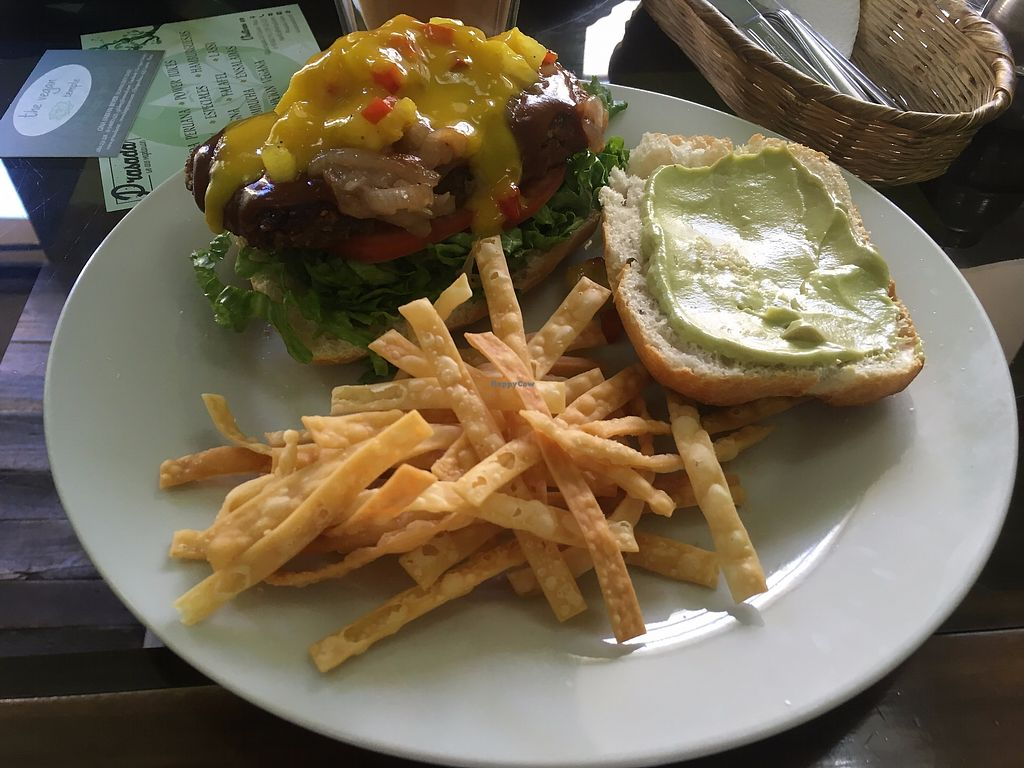 "Photo of Prasada  by <a href=""/members/profile/vegan_ryan"">vegan_ryan</a> <br/>tropical burger <br/> July 16, 2017  - <a href='/contact/abuse/image/19318/281030'>Report</a>"