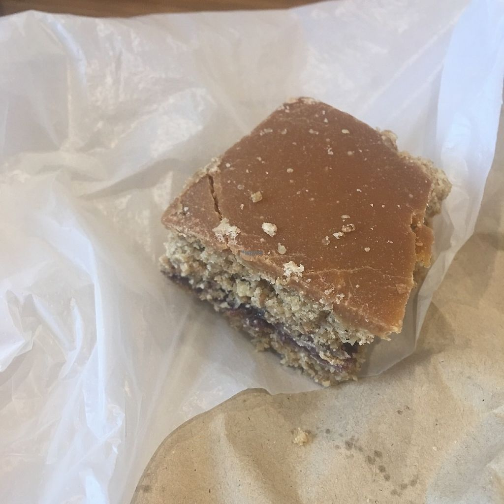 """Photo of Organic Kitchen  by <a href=""""/members/profile/edajoir"""">edajoir</a> <br/>Caramel and blueberry slice!  <br/> March 9, 2017  - <a href='/contact/abuse/image/19327/234594'>Report</a>"""