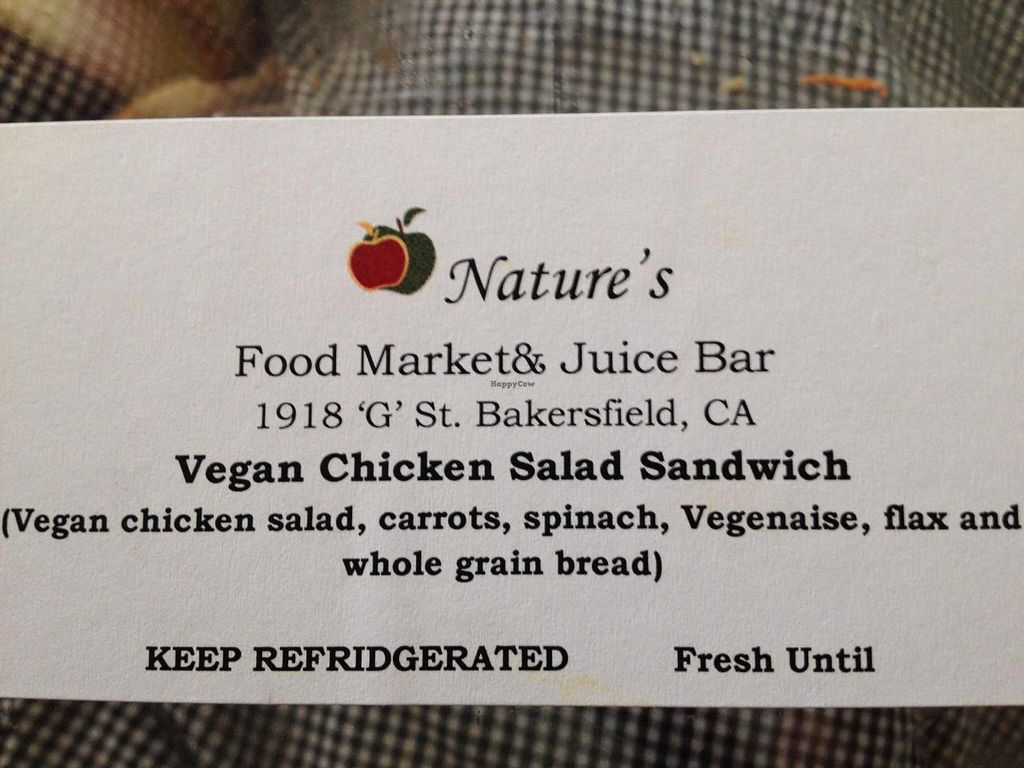 """Photo of Nature's Food Market and Juice Bar  by <a href=""""/members/profile/Toasty_Danzig"""">Toasty_Danzig</a> <br/>SOOOO GOOD GET IT! <br/> October 13, 2014  - <a href='/contact/abuse/image/19350/82866'>Report</a>"""