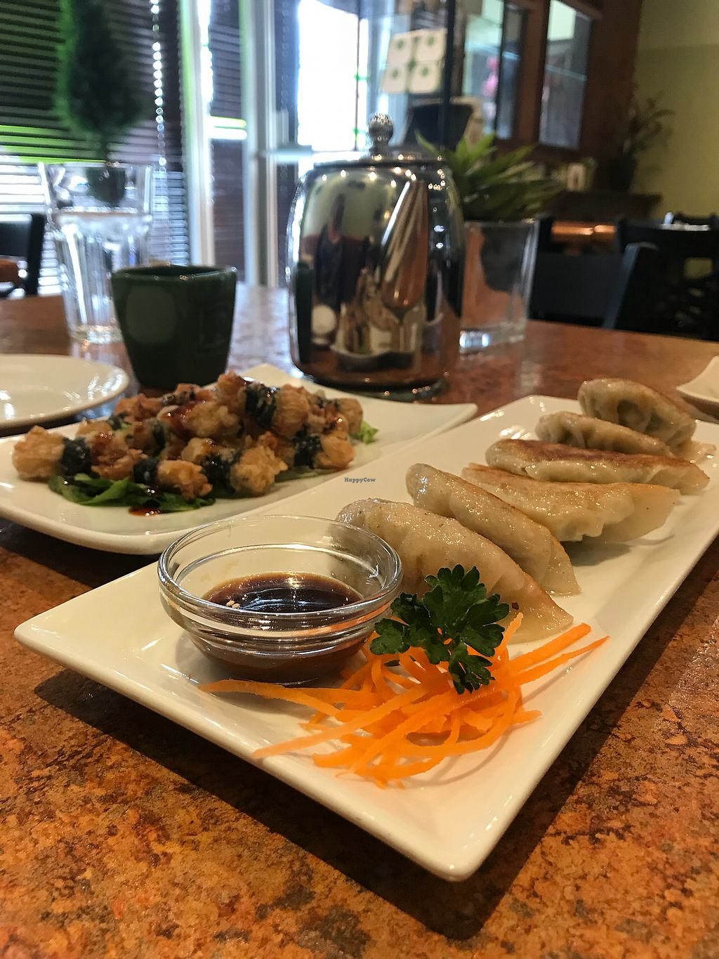 "Photo of Loma House Vegetarian Express  by <a href=""/members/profile/Madimassacre"">Madimassacre</a> <br/>Potstickers and enoki mushroom rolls <br/> January 20, 2018  - <a href='/contact/abuse/image/19358/349054'>Report</a>"