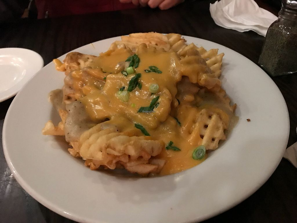 """Photo of The Chicago Diner  by <a href=""""/members/profile/VeganMamaAL"""">VeganMamaAL</a> <br/>Vegan poutine!  <br/> January 15, 2018  - <a href='/contact/abuse/image/1943/346951'>Report</a>"""