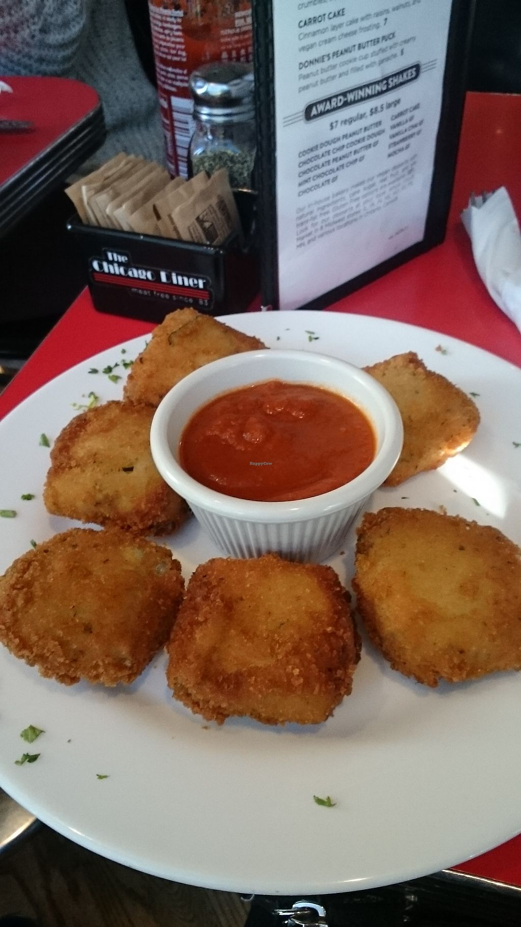 """Photo of The Chicago Diner  by <a href=""""/members/profile/ZoraySpielvogel"""">ZoraySpielvogel</a> <br/>Stuffed zucchini empanaita.  <br/> January 28, 2018  - <a href='/contact/abuse/image/1943/352056'>Report</a>"""