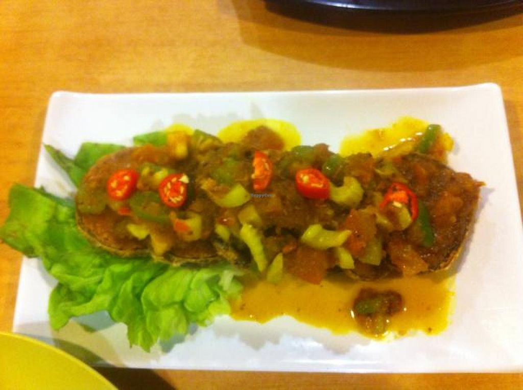"""Photo of Casa Station Vegetarian Restaurant  by <a href=""""/members/profile/kasia"""">kasia</a> <br/>Ginger spiced vegetarian fish <br/> July 13, 2014  - <a href='/contact/abuse/image/19461/73949'>Report</a>"""