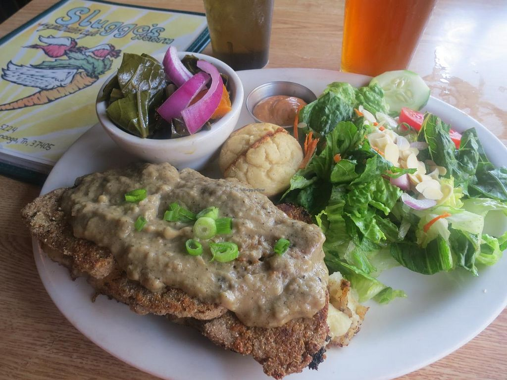 """Photo of Sluggo's North Vegetarian Cafe  by <a href=""""/members/profile/rmark25"""">rmark25</a> <br/>Pecan Crusted Seitan <br/> January 21, 2014  - <a href='/contact/abuse/image/19466/62914'>Report</a>"""