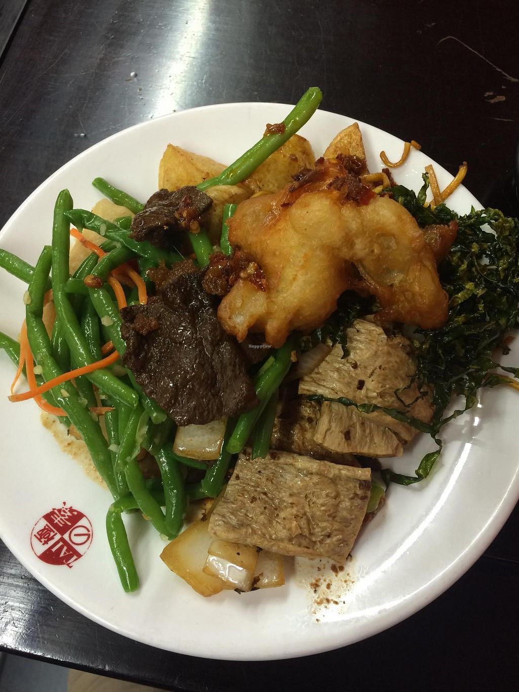 "Photo of Tai Buffet - To-Fu  by <a href=""/members/profile/redshift86"">redshift86</a> <br/>Green bean salad, todu in black bean sauce and an assortment of other vegan food! <br/> July 19, 2015  - <a href='/contact/abuse/image/19473/109957'>Report</a>"