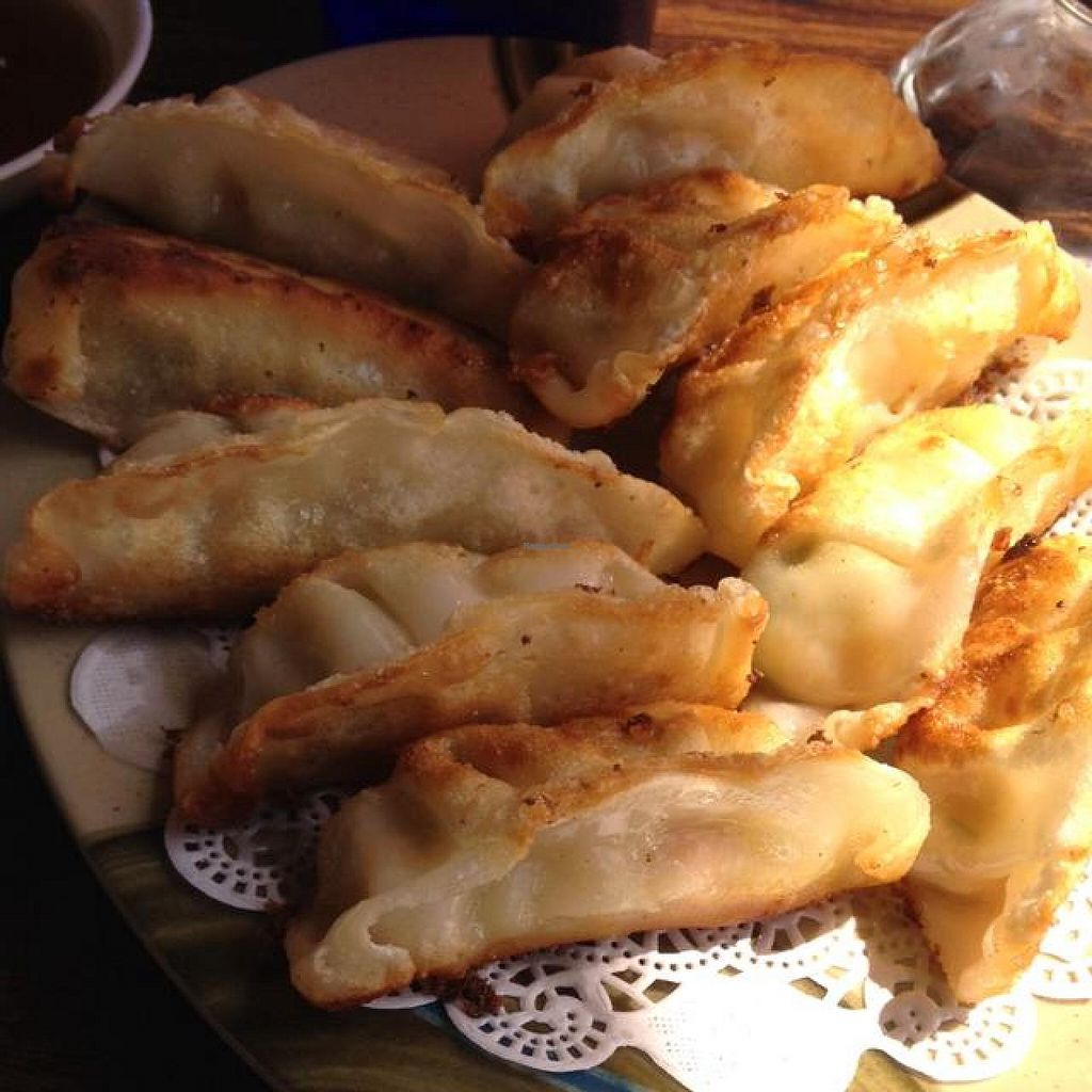 "Photo of Cambodian-Thai Restaurant   by <a href=""/members/profile/nardanddee"">nardanddee</a> <br/>veggie potstickers <br/> April 9, 2014  - <a href='/contact/abuse/image/19505/67293'>Report</a>"