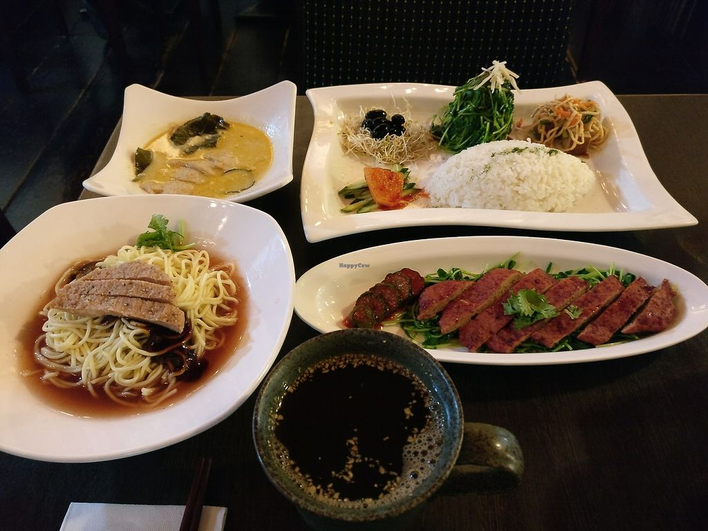 """Photo of Feng Wei Ting  by <a href=""""/members/profile/bulma"""">bulma</a> <br/>curry with side dishes, red koji, house noodles and ginger tea  <br/> August 21, 2017  - <a href='/contact/abuse/image/19514/295155'>Report</a>"""