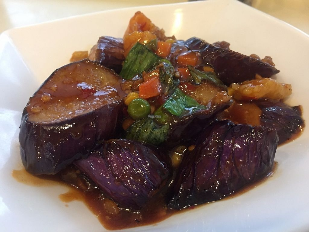 """Photo of Loving Hut - Wan Chai  by <a href=""""/members/profile/SamanthaIngridHo"""">SamanthaIngridHo</a> <br/>Eggplant with thai basil <br/> April 13, 2017  - <a href='/contact/abuse/image/19570/247619'>Report</a>"""