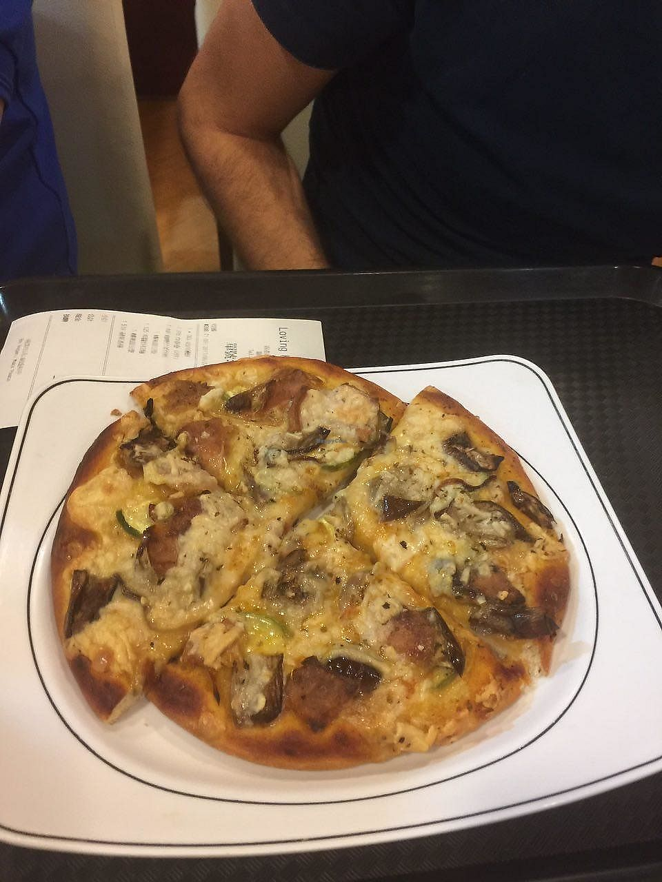 """Photo of Loving Hut - Wan Chai  by <a href=""""/members/profile/FlokiTheCat"""">FlokiTheCat</a> <br/>Vegan cheese pizza <br/> June 29, 2017  - <a href='/contact/abuse/image/19570/274648'>Report</a>"""