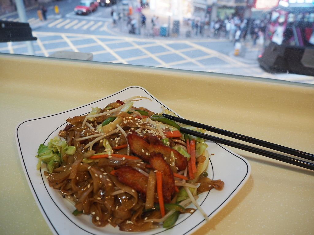 """Photo of Loving Hut - Wan Chai  by <a href=""""/members/profile/katfletcher"""">katfletcher</a> <br/>Noodles with a view  <br/> April 14, 2018  - <a href='/contact/abuse/image/19570/385451'>Report</a>"""