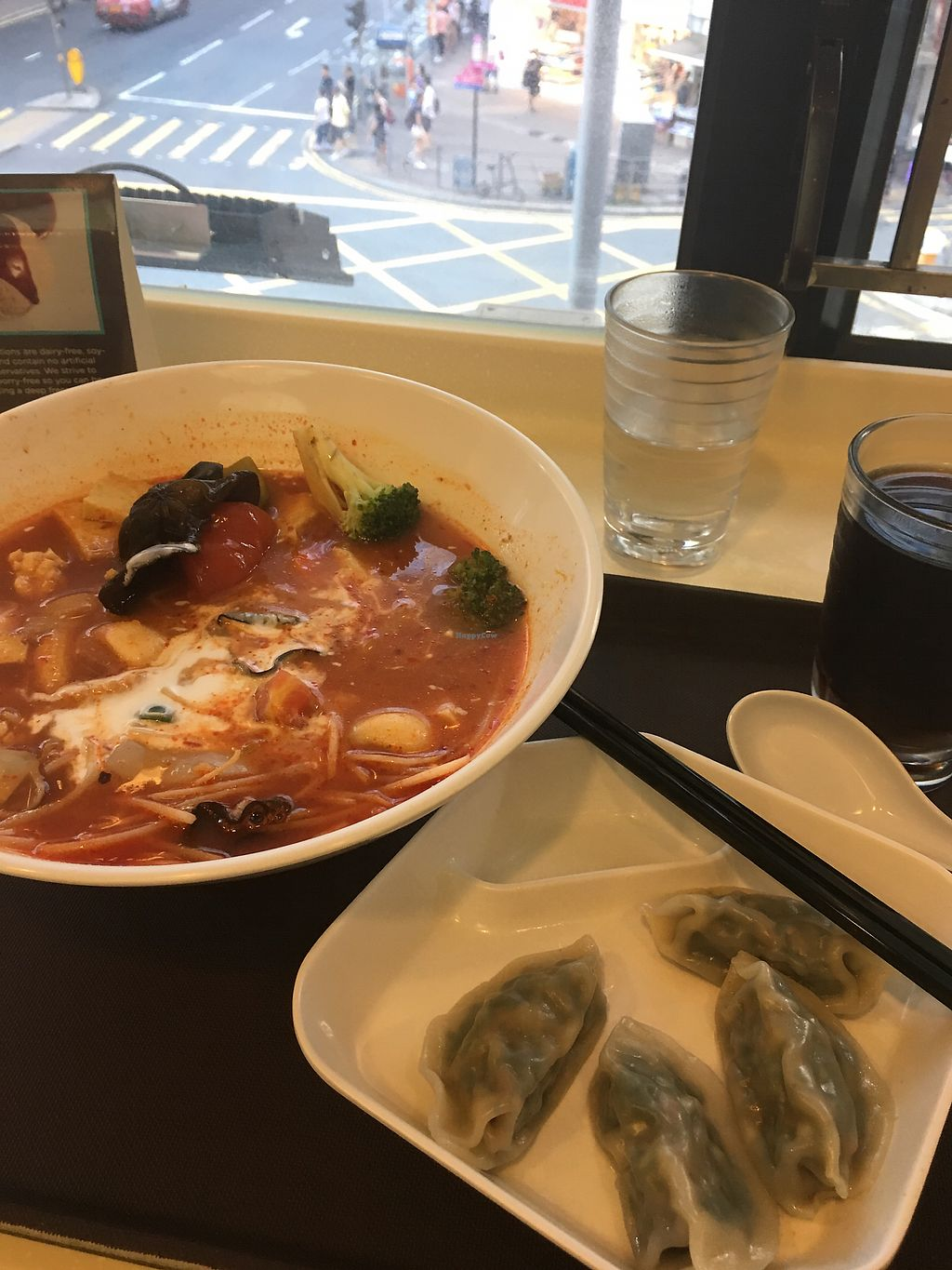 """Photo of Loving Hut - Wan Chai  by <a href=""""/members/profile/CHS"""">CHS</a> <br/>Delicious! <br/> May 23, 2018  - <a href='/contact/abuse/image/19570/403857'>Report</a>"""