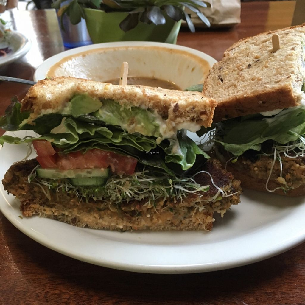 """Photo of Bliss Cafe  by <a href=""""/members/profile/AshleyAutumn"""">AshleyAutumn</a> <br/>Great Veggie Burger <br/> January 24, 2016  - <a href='/contact/abuse/image/19617/133595'>Report</a>"""