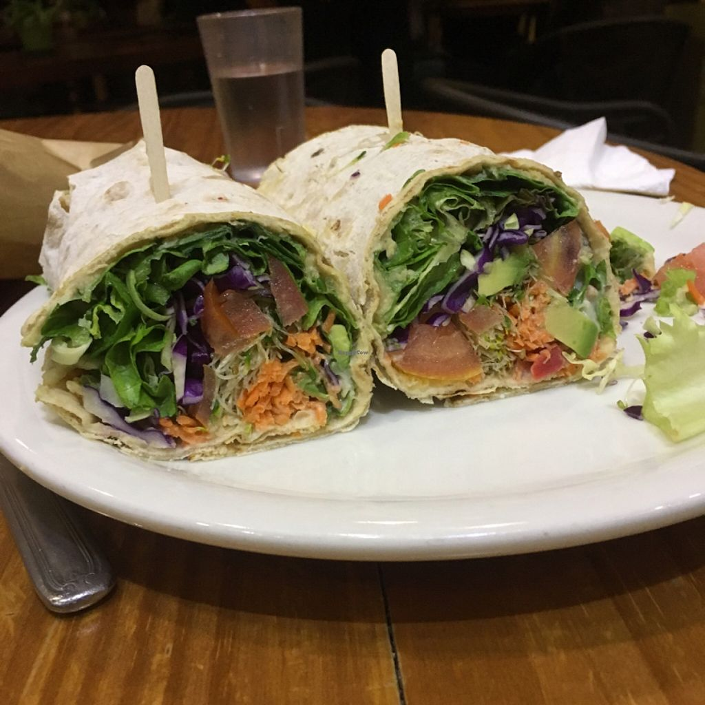 """Photo of Bliss Cafe  by <a href=""""/members/profile/AshleyAutumn"""">AshleyAutumn</a> <br/>hummus wrap <br/> March 3, 2016  - <a href='/contact/abuse/image/19617/138683'>Report</a>"""