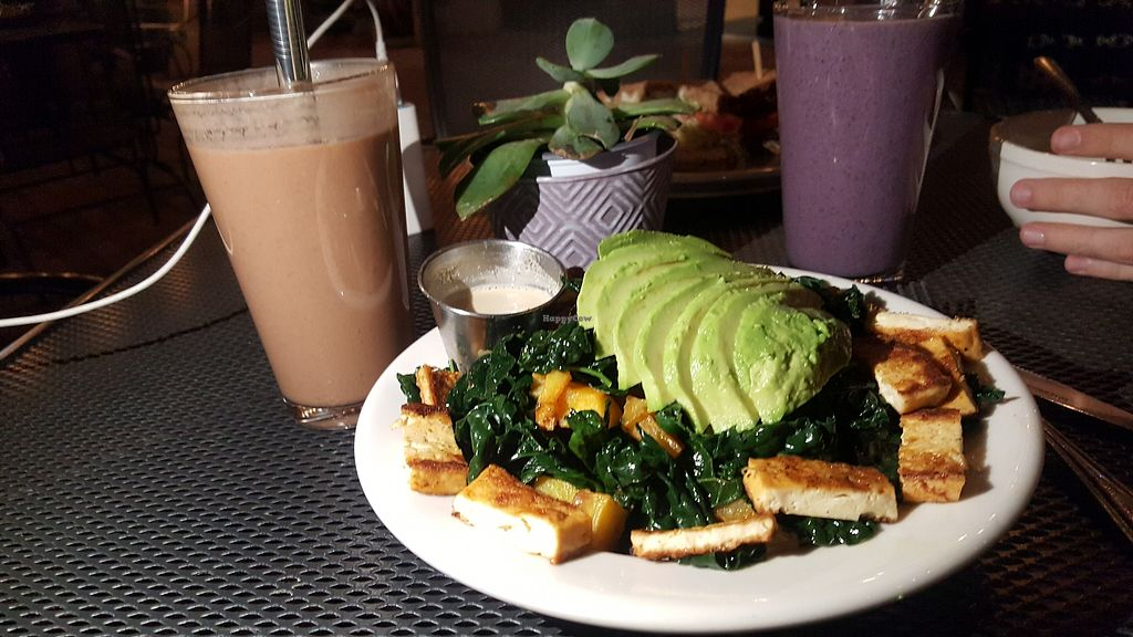 """Photo of Bliss Cafe  by <a href=""""/members/profile/sarahssoares"""">sarahssoares</a> <br/>Bowl with kale, avocado <br/> March 27, 2018  - <a href='/contact/abuse/image/19617/376801'>Report</a>"""