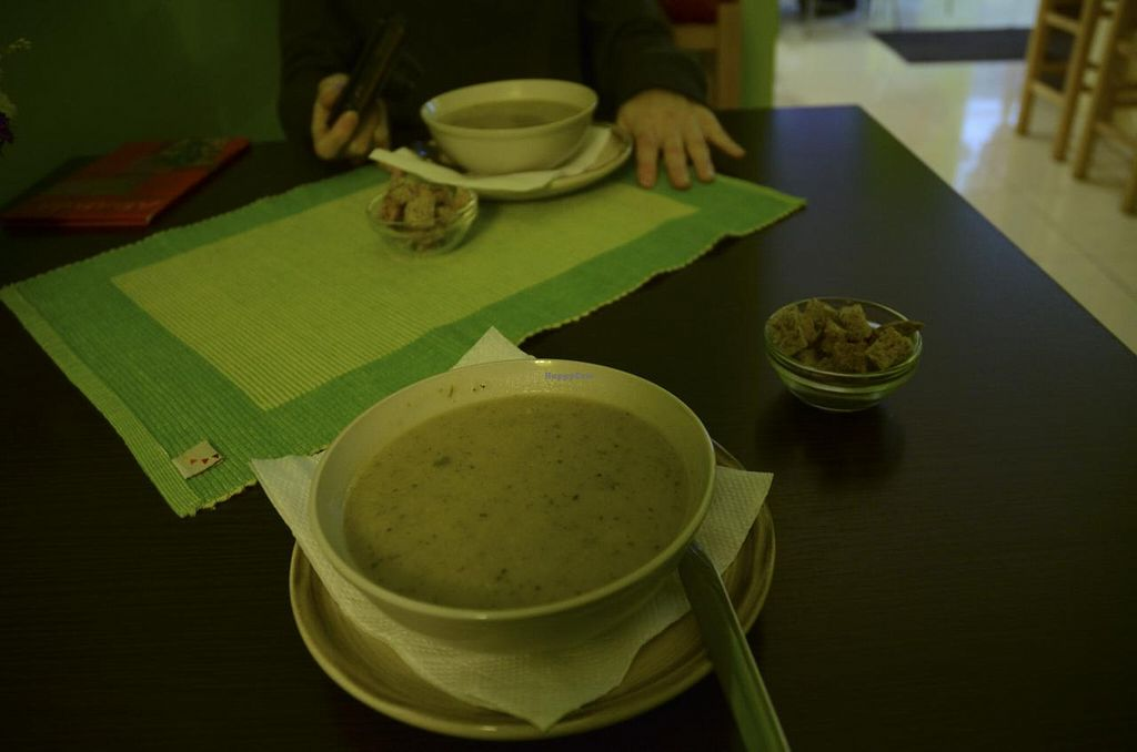 "Photo of Ananda  by <a href=""/members/profile/Ciad"">Ciad</a> <br/>Broccoli Cream Soup with Croutons <br/> March 9, 2014  - <a href='/contact/abuse/image/19634/65565'>Report</a>"