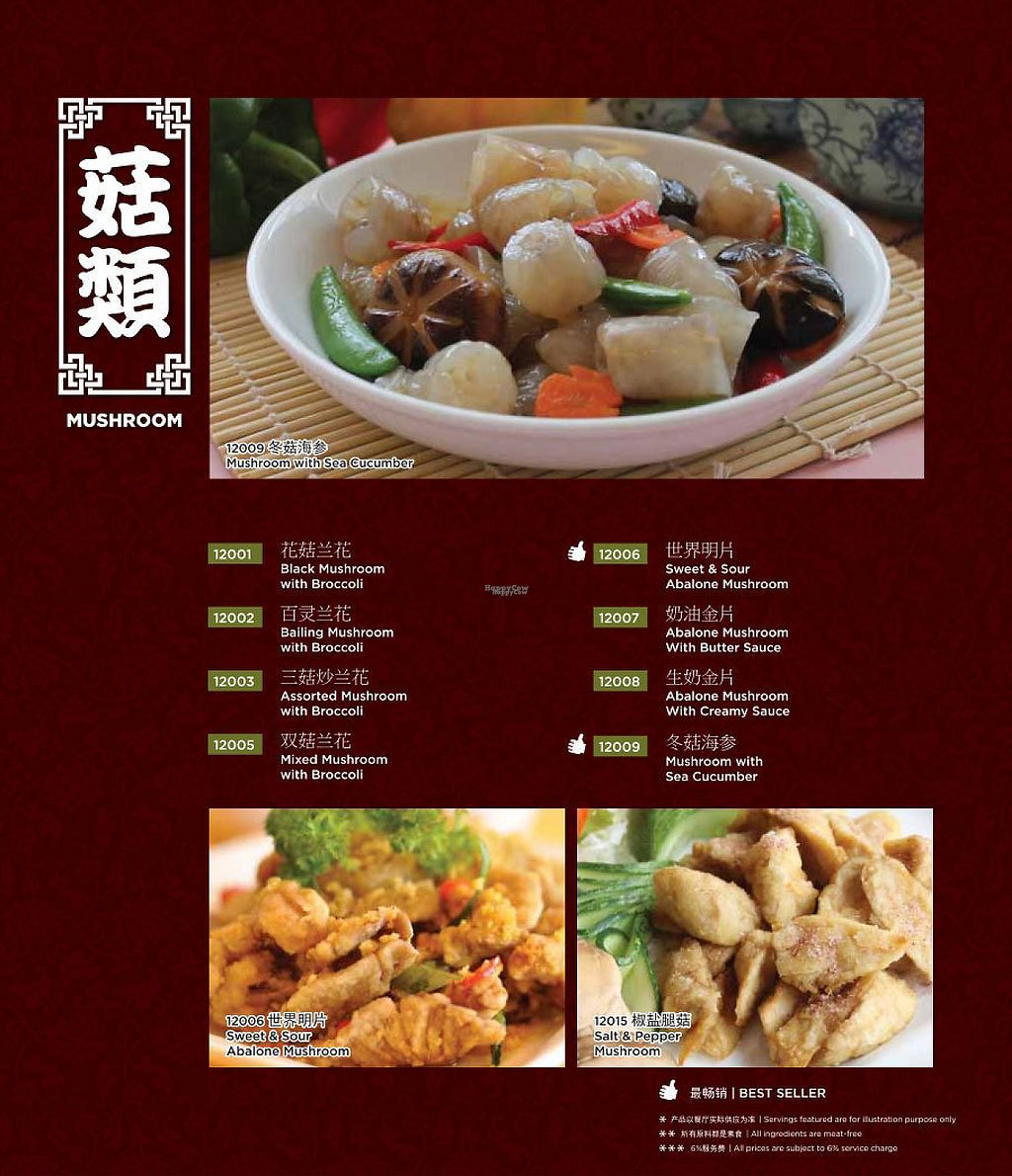 Photo of Chin Swee Vegetarian Restaurant  by Raphael_Dane <br/>menu <br/> January 27, 2017  - <a href='/contact/abuse/image/19700/217808'>Report</a>
