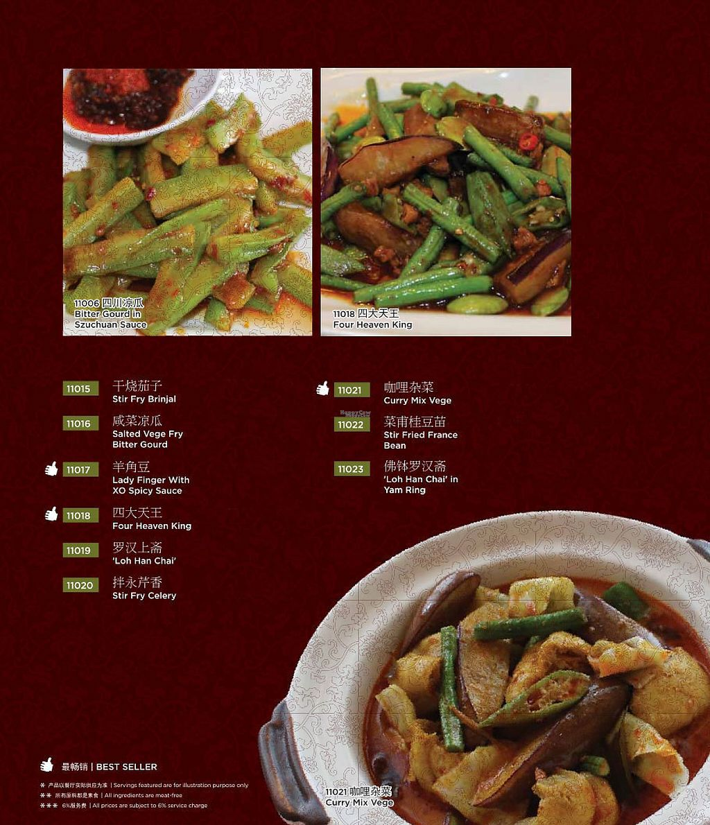 Photo of Chin Swee Vegetarian Restaurant  by Raphael_Dane <br/>menu <br/> January 27, 2017  - <a href='/contact/abuse/image/19700/217809'>Report</a>