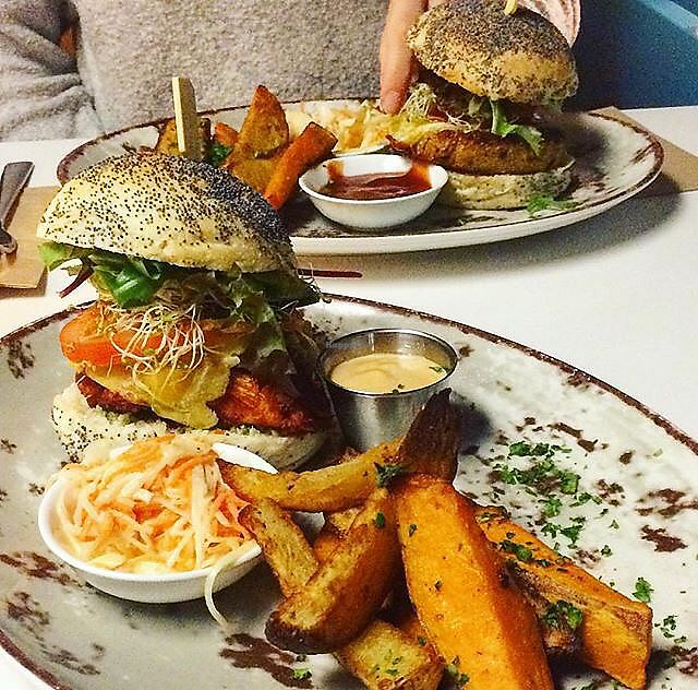 """Photo of Funky Fresh Cafe  by <a href=""""/members/profile/KevinEhrenberg"""">KevinEhrenberg</a> <br/>Burgers at Funky Fresh Café <br/> July 5, 2017  - <a href='/contact/abuse/image/19711/276841'>Report</a>"""