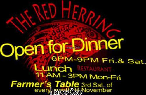 "Photo of Red Herring - temporarily closed  by <a href=""/members/profile/RonCann"">RonCann</a> <br/>Red Herring Fall 2012 poster <br/> September 19, 2012  - <a href='/contact/abuse/image/1971/38051'>Report</a>"