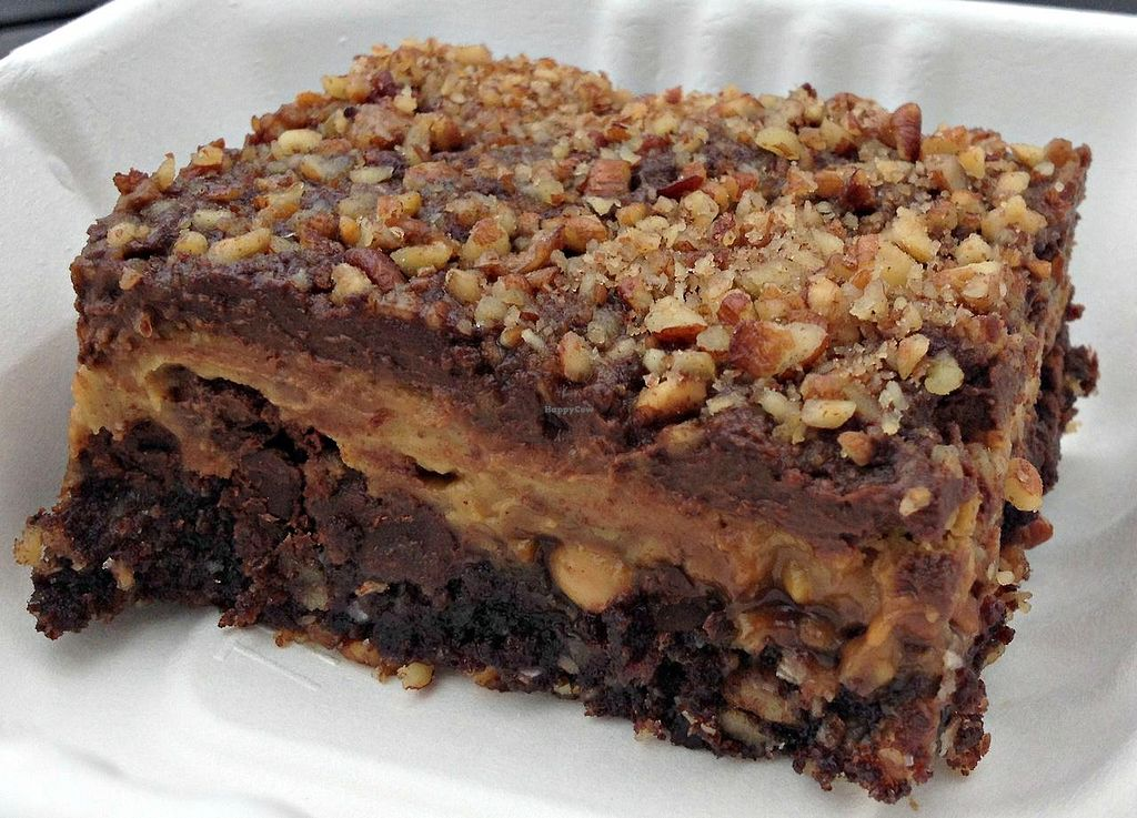 Photo of The Green Owl Cafe  by RamblingVegans <br/>Vegan chocolate pumpkin cheesecake bar <br/> March 1, 2014  - <a href='/contact/abuse/image/19743/65038'>Report</a>