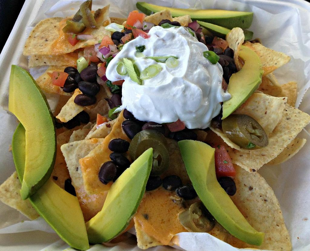 Photo of The Green Owl Cafe  by RamblingVegans <br/>Vegan Macho Nachos <br/> June 7, 2014  - <a href='/contact/abuse/image/19743/71586'>Report</a>
