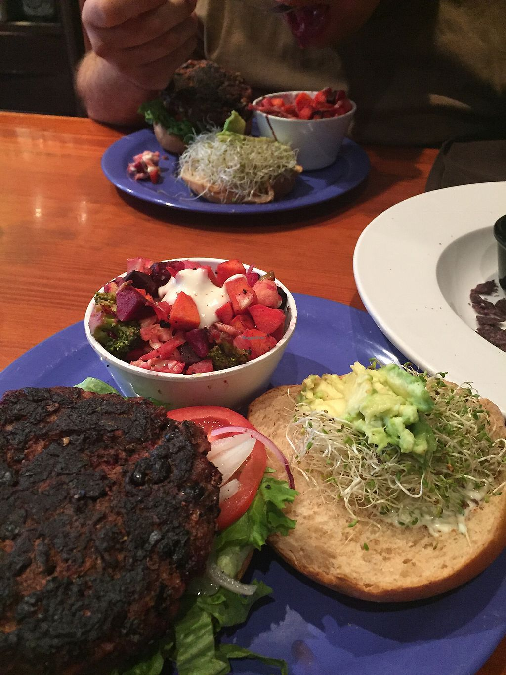 """Photo of The Wild Cow  by <a href=""""/members/profile/aWiiPeanut"""">aWiiPeanut</a> <br/>veggie burger <br/> August 11, 2017  - <a href='/contact/abuse/image/19759/291415'>Report</a>"""