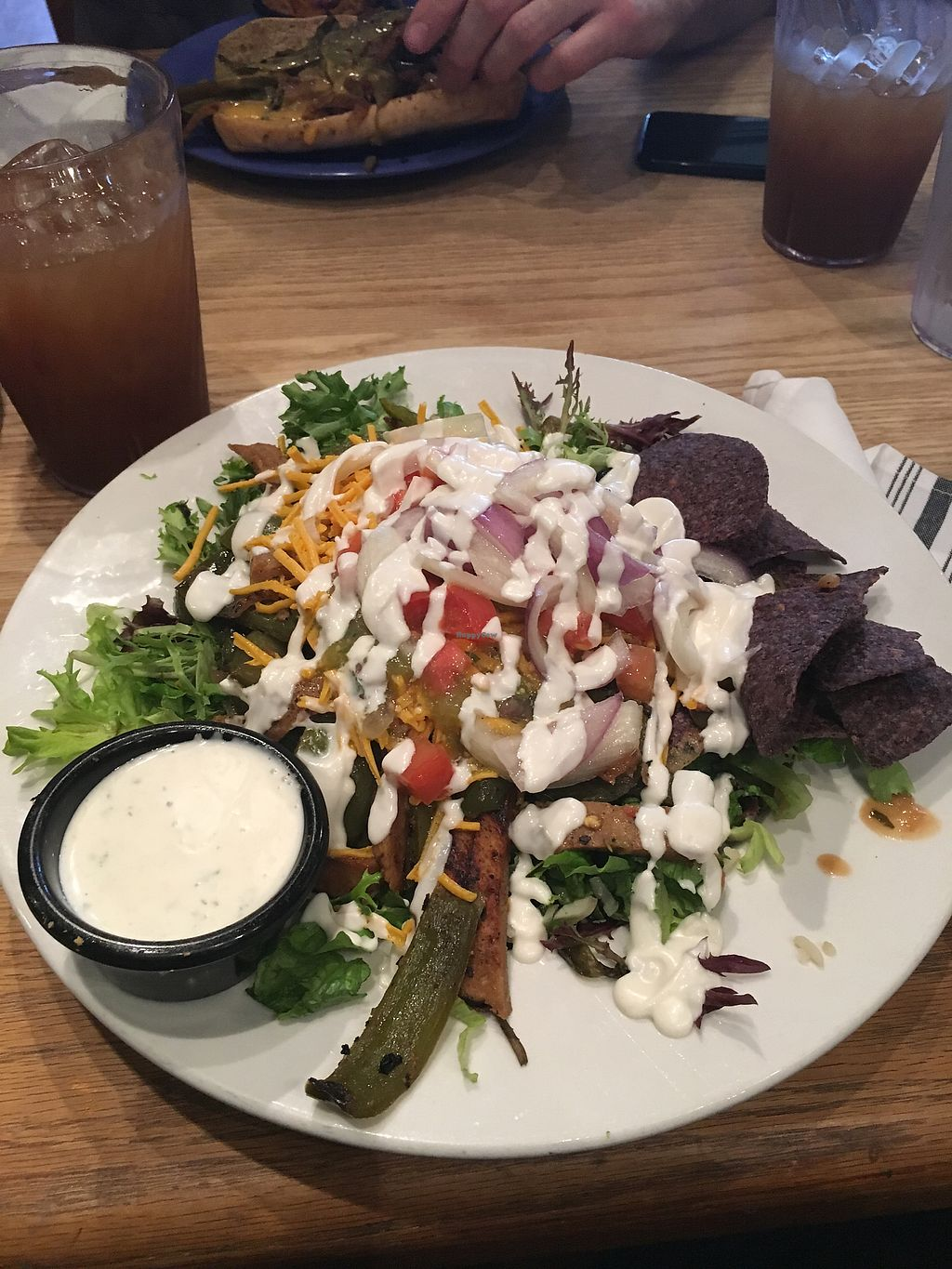 """Photo of The Wild Cow  by <a href=""""/members/profile/leenuhh"""">leenuhh</a> <br/>Amazing, to die for taco salad! I added peppers and seitan  <br/> April 3, 2018  - <a href='/contact/abuse/image/19759/380033'>Report</a>"""
