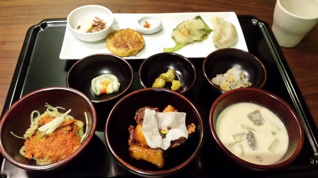 """Photo of Balwoo Gongyang - 발우공양  by <a href=""""/members/profile/Cameron2786"""">Cameron2786</a> <br/>Second part of the set meal. The perilla soup was very good <br/> August 8, 2016  - <a href='/contact/abuse/image/19777/166936'>Report</a>"""