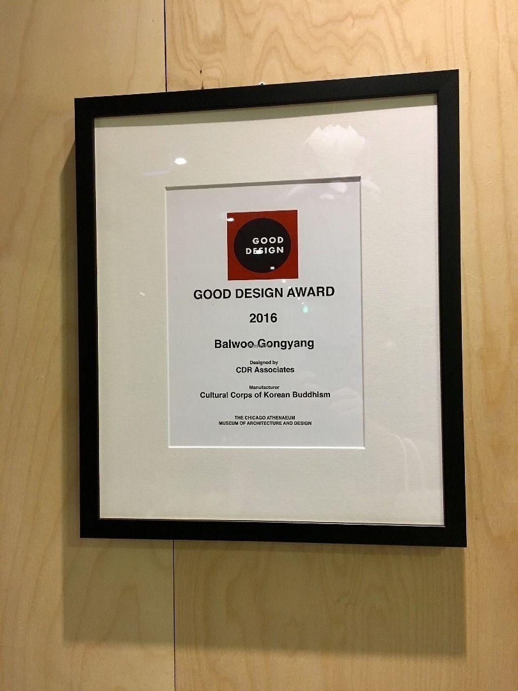 "Photo of Balwoo Gongyang - 발우공양  by <a href=""/members/profile/paulkates"">paulkates</a> <br/>Good Design Award <br/> May 20, 2017  - <a href='/contact/abuse/image/19777/260527'>Report</a>"