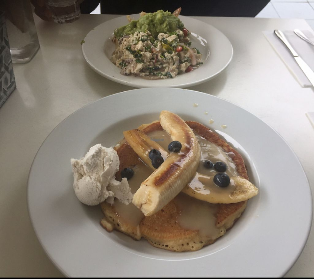"""Photo of The Green Edge Store and Cafe  by <a href=""""/members/profile/TiffDiaz"""">TiffDiaz</a> <br/>pancakes & scrambled tofu breakfast <br/> March 31, 2017  - <a href='/contact/abuse/image/19791/242936'>Report</a>"""