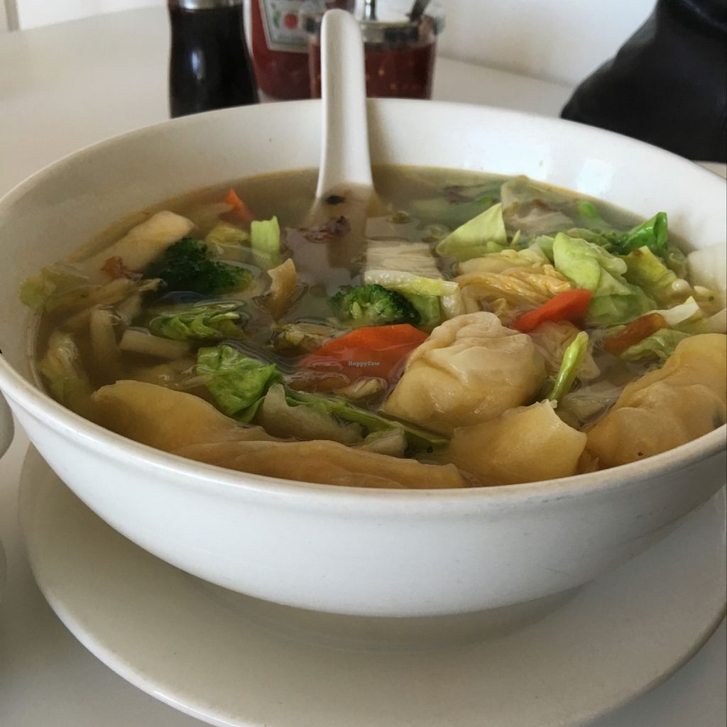 """Photo of Loving Hut - Orange  by <a href=""""/members/profile/xmrfigx"""">xmrfigx</a> <br/>my wife's favorite wonton soup with extra veggies <br/> December 14, 2015  - <a href='/contact/abuse/image/19842/128451'>Report</a>"""