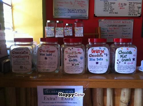 """Photo of Vilcabamba Juice Factory  by <a href=""""/members/profile/KristieJ"""">KristieJ</a> <br/>My favourite bliss balls! <br/> September 2, 2013  - <a href='/contact/abuse/image/19864/54235'>Report</a>"""
