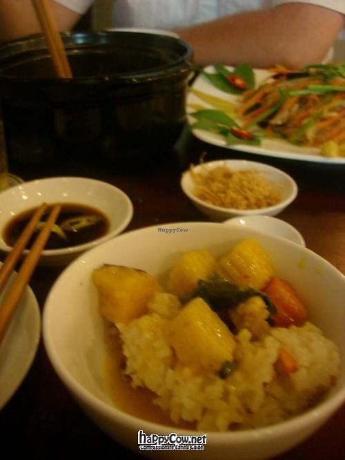 """Photo of Viet Chay - Vinh Nghiem Pagoda  by <a href=""""/members/profile/ViolaineB"""">ViolaineB</a> <br/>curry and rice, with potatoes and lemongrass curry sauce. With dried mushroom powder to sprinkle on top <br/> April 28, 2012  - <a href='/contact/abuse/image/19869/31110'>Report</a>"""