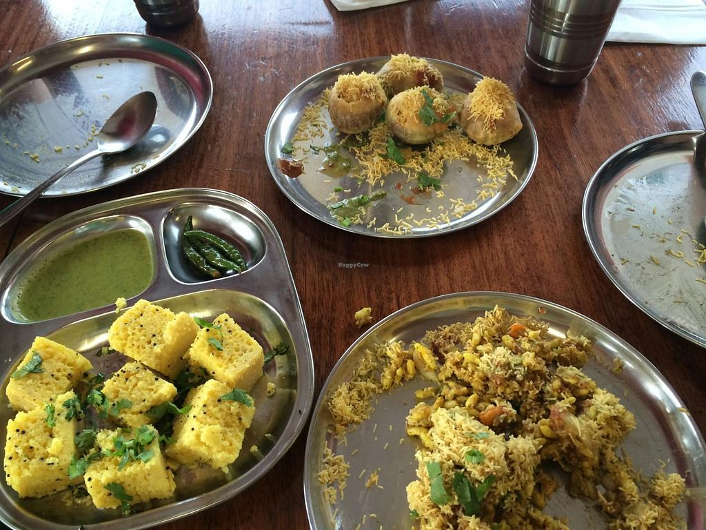 """Photo of Jai Jalaram Khaman  by <a href=""""/members/profile/Plantpower"""">Plantpower</a> <br/>Different vegan dishes to share <br/> March 1, 2015  - <a href='/contact/abuse/image/19895/94475'>Report</a>"""