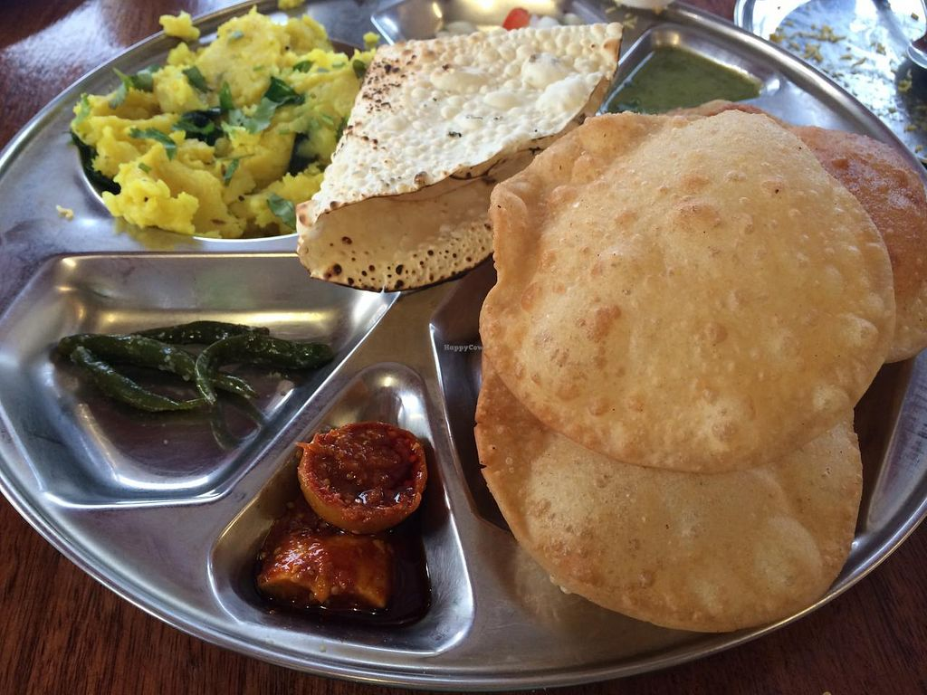 """Photo of Jai Jalaram Khaman  by <a href=""""/members/profile/Plantpower"""">Plantpower</a> <br/>Thali set for $10 <br/> March 1, 2015  - <a href='/contact/abuse/image/19895/94476'>Report</a>"""