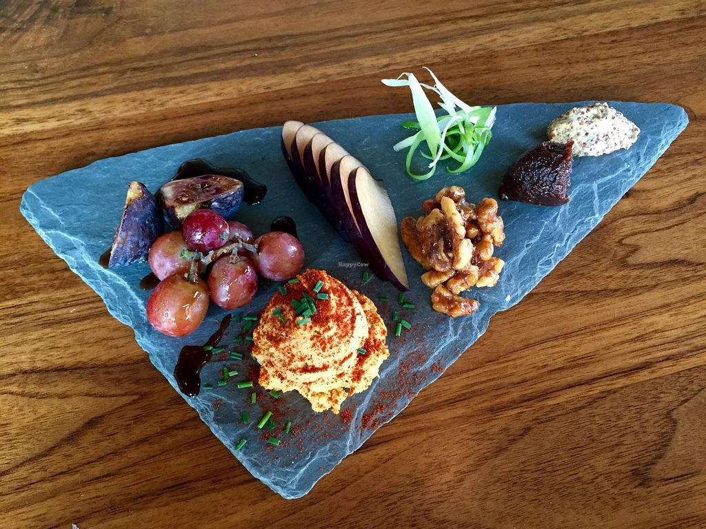 "Photo of CLOSED: Encuentro  by <a href=""/members/profile/clovely.vegan"">clovely.vegan</a> <br/>Sharp cashew cheese plate with fig chutney, grain mustard, walnut 'honey', seasonal fruit <br/> October 22, 2015  - <a href='/contact/abuse/image/19932/122126'>Report</a>"