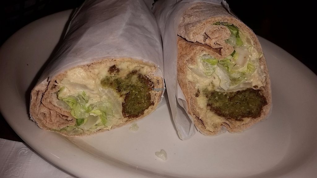 """Photo of The Olive Tree Mediterranean Cafe  by <a href=""""/members/profile/CorissaMarie"""">CorissaMarie</a> <br/>The falafel wrap <br/> April 9, 2017  - <a href='/contact/abuse/image/19941/246209'>Report</a>"""
