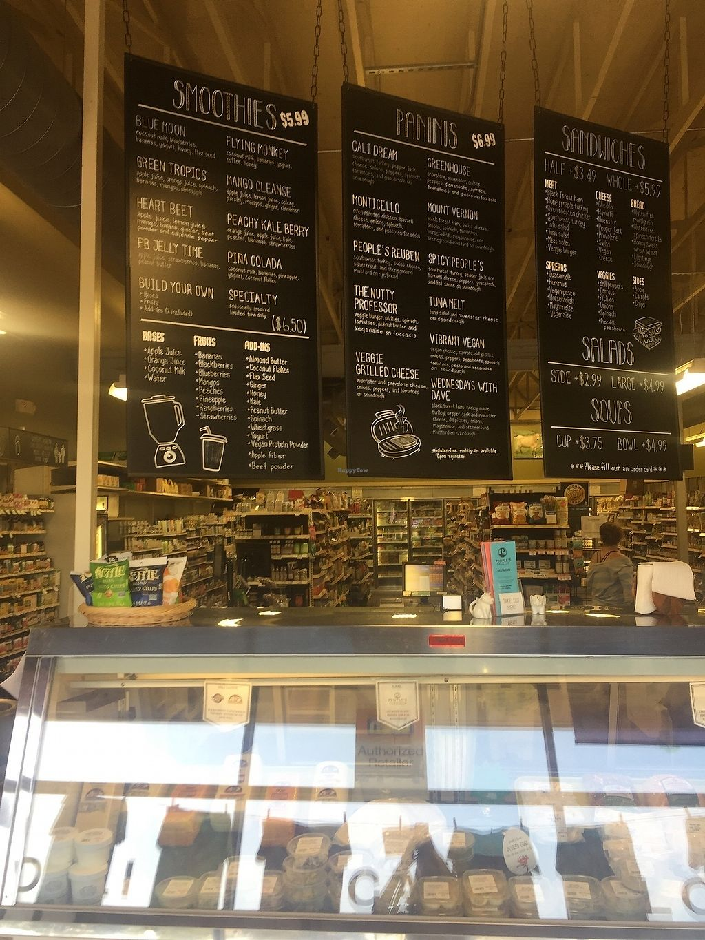 """Photo of People's Grocery and Deli  by <a href=""""/members/profile/MaddyR"""">MaddyR</a> <br/>interior and menu <br/> August 23, 2017  - <a href='/contact/abuse/image/2000/296271'>Report</a>"""