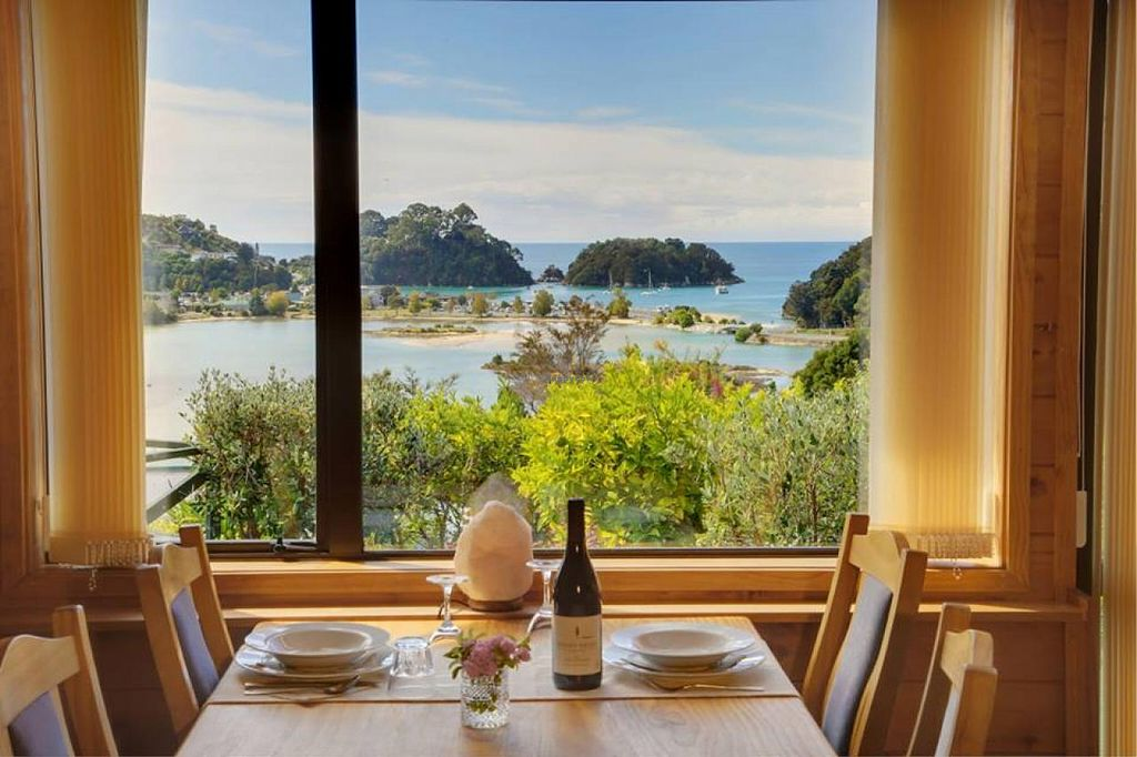 """Photo of The Views Vegetarian Restaurant  by <a href=""""/members/profile/kimiora"""">kimiora</a> <br/>Overlooking the Kaiteriteri bay while you dine <br/> December 17, 2014  - <a href='/contact/abuse/image/20020/88181'>Report</a>"""
