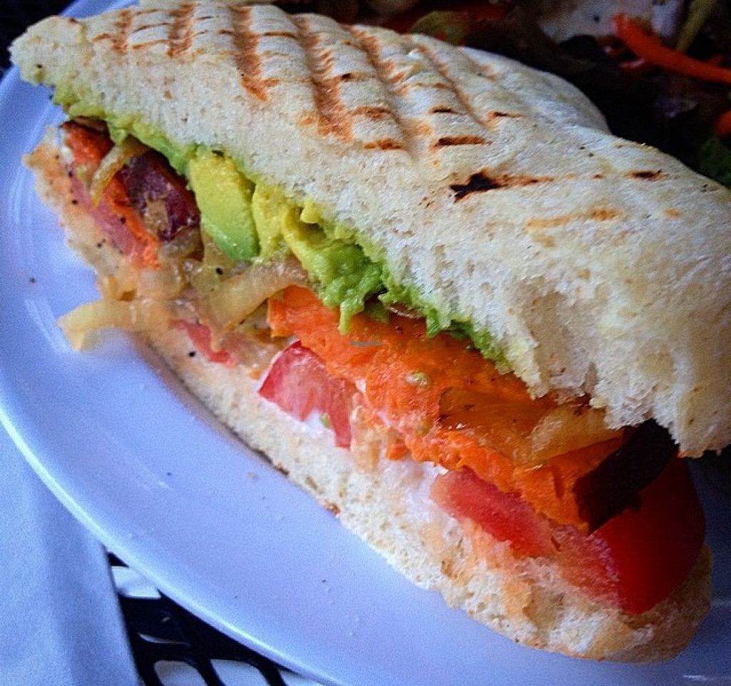 """Photo of CLOSED: Garden to Grill  by <a href=""""/members/profile/RachelenPerez"""">RachelenPerez</a> <br/>Sweet potato and avocado panini.  <br/> September 12, 2015  - <a href='/contact/abuse/image/20181/117466'>Report</a>"""