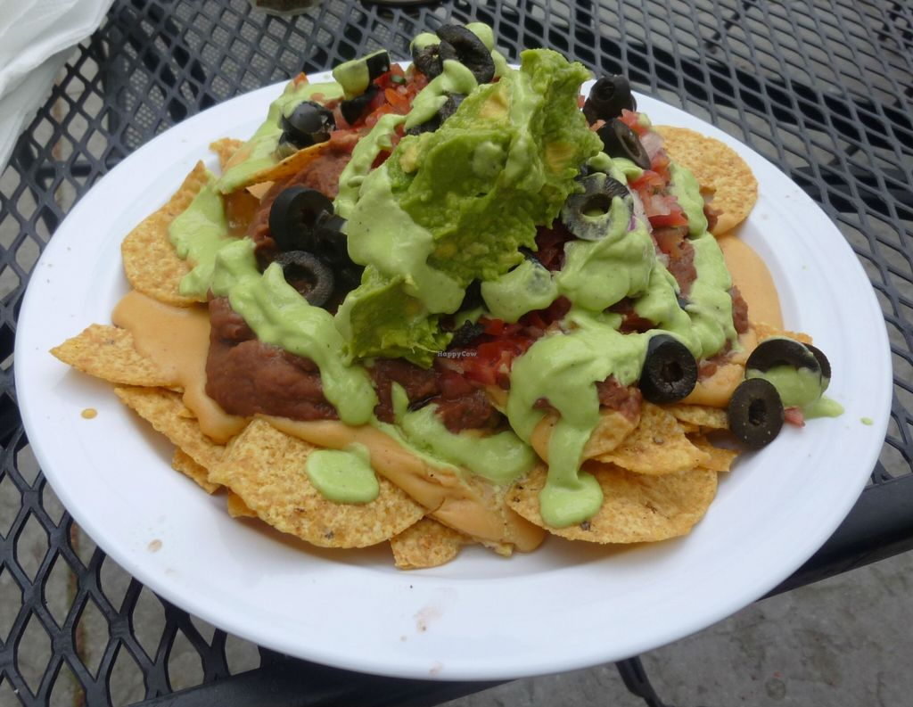 """Photo of CLOSED: Garden to Grill  by <a href=""""/members/profile/VeganSquid"""">VeganSquid</a> <br/>Vegan Nachos <br/> April 17, 2016  - <a href='/contact/abuse/image/20181/144983'>Report</a>"""
